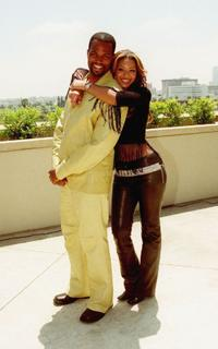 Chris Spencer and Beyonce Knowles at the Black Sports Agents Association (BSAA) press conference.