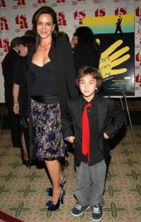 Polly Draper and son Alex at the premiere of