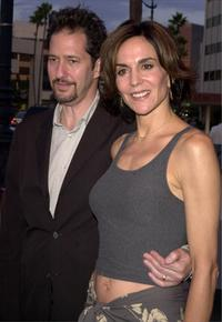 Michael Wolff and Polly Draper at the premiere of