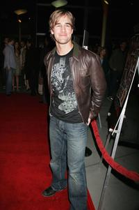 James Van Der Beek at the premiere of
