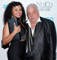 Uma and Vinny Vella at the reception following the premiere of