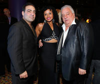 Paul Borghese, Uma and Vinny Vella at the reception following the premiere of