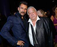 Wass Stevens and Vinny Vella at the reception following the premiere of
