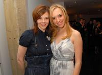 Kiersten Warren and Andrea Bowen at the cocktail reception for Omegamania-Antiquorum's preview of 300 collector's.