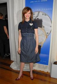 Kiersten Warren at the cocktail reception for Omegamania-Antiquorum's preview of 300 collector's.