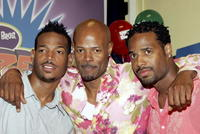 Marlon Wayans, Keenan Ivory Wayans and Shawn Wayans at the promotion of new game
