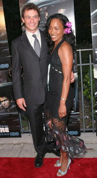 Dominic West and Sonja Sohn at the premiere of