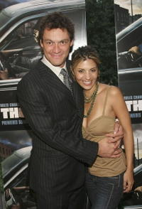 Dominic West and Callie Thorne at the premiere of
