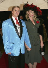 Peta Wilson and Daniel Wylie at The Mother of All Balls.