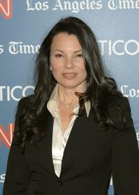 Fran Drescher at the CNN, LA Times, POLITICO Democratic Debate.