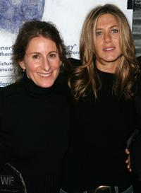 Nicole Holofcener and Jennifer Aniston at the press conference of