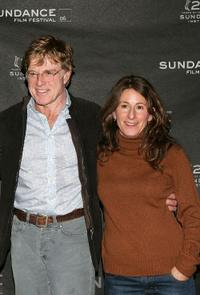 Robert Redford and Nicole Holofcener at the press conference of 2006 Sundance Festival.