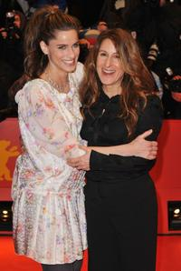 Amanda Peet and Nicole Holofcener at the premiere of