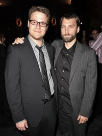 Seth Rogen and Scott Mosier at the after party of the premiere of