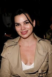 Karen Duffy at the Cynthia Rowley Fall 2008 fashion show during the Mercedes-Benz Fashion Week Fall.