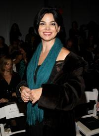 Karen Duffy at the Nicole Miller Fall 2008 fashion show during the Mercedes-Benz Fashion Week Fall.