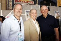 David Hoberman, Frank Marshall and Dick Cook at the premiere of