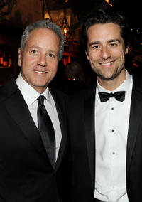 David Hoberman and Todd Lieberman at the after party of Weinstein Company's 2011 Golden Globe Awards.