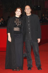 Agnes Jaoui and director Jean Pierre Bacri at the premiere of