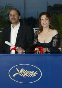 Jean Pierre Bacri and Agnes Jaoui at the 57th Cannes Film Festival.