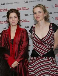 Agnes Jaoui and Julie Delpy at the New York Film Festival opening night screening of