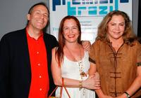 Matthew Chapman, Denise Dummont and Kathleen Turner at the world premiere of