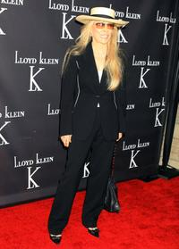 Faye Dunaway at the celebrity launch party for the opening of the Lloyd Klein flagship retail store.