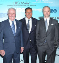 Jerry Weintraub, HBO Co- President Richard Plepler and Douglas McGrath at the New York premiere of