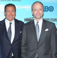 HBO Co- President Richard Plepler and Douglas McGrath at the New York premiere of