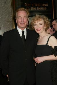 Lindsay Duncan and Alan Rickman at the 56th Annual Tony Awards at Radio City Music Hall, New York City.