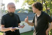 Greg Mottola and Jesse Eisenberg in