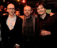 Greg Mottola, Simon Pegg and Bill Hader at the after party of the California premiere of