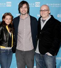 Kristen Stewart, Bill Hader and Greg Mottola at the premiere of