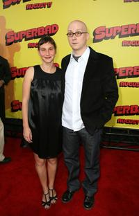 Sarah and Greg Mottola at the premiere of
