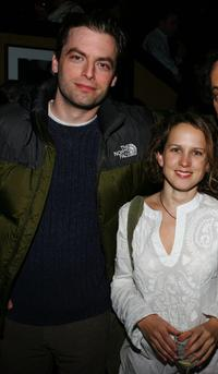 Justin Kirk and Jennifer Dundas at the Cinetic Media Party during the Sundance Film Festival.