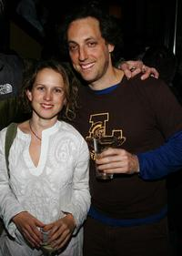Jennifer Dundas and Producer Kevin Chinoi at the Cinetic Media Party during the Sundance Film Festival.
