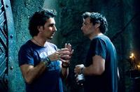 Director Patrick Tatopoulos and Story Creator/Producer Len Wiseman on the set of