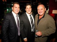 George Eads, Louis Shaw Milito and Paul Guilfoyle at the after party of the grand opening of