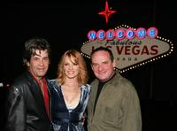 Alan Rosenberg, Marg Helgenberger and Paul Guilfoyle at the party for the CSI 100th episode.