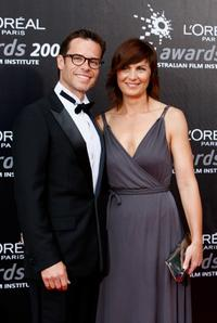 Guy Pearce and Kate Pierce at the L'Oreal Paris 2008 AFI Awards.