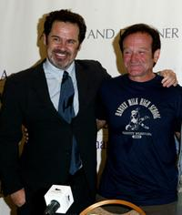 Dennis Miller and Robin Williams at the press conference for the Andre Agassi Foundation's 8th Annual Grand Slam for Children benefit concert.