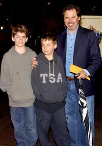 Dennis Miller and his family at the premiere of