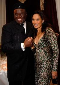 George Wallace and Tia Carrere at Andre Agassi's 12th Annual Grand Slam for Children.
