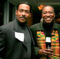 John Canada Terrell and Chair Roni Wheeler at the Producers Guild of America (PGA) East Diversity Recruitment Committee