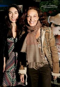 Ahn Duong and Diane von Furstenberg at the New York premiere of