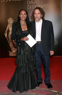 Zeudi Araya and Director Massimo Spano at the David di Donatello 2007 Italian Awards.