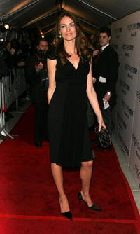 Saffron Burrows at the N.Y. premiere of the