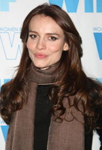 Saffron Burrows at the Women in Film panel during the 2008 Sundance Film Festival.