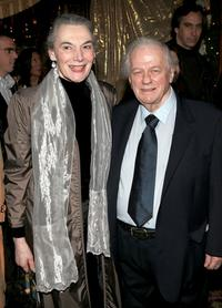 Charles Durning and Marian at the Broadway Opening Party For