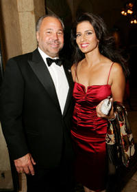 Bo Dietl and Margo D'Agostino at the wedding ceremony of Donald Trump Jr. and Vanessa Haydon in Florida.
